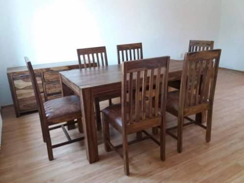 Stôl Elegant, komoda JUMBO, stoličky Elegant