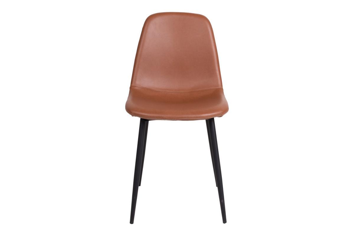 Dizajnová jedálenská stolička Myla, vintage hnedá