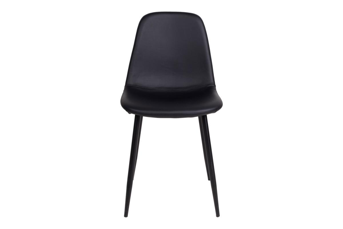 Dizajnová jedálenská stolička Myla, čierna