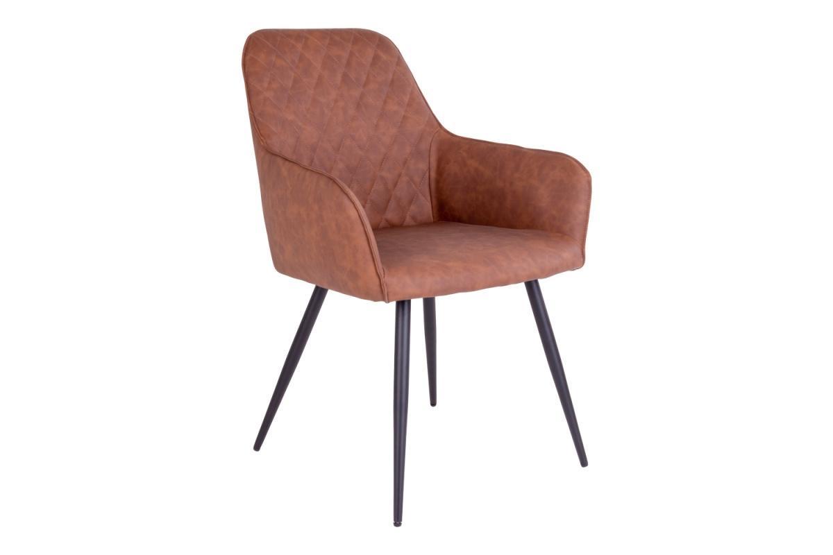 Dizajnová jedálenská stolička Gracelyn, vintage hnedá