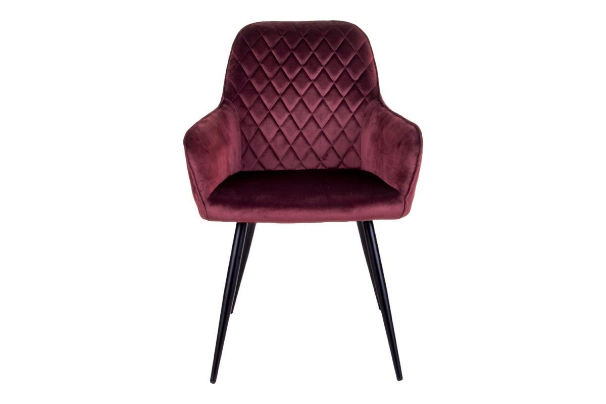Dizajnová jedálenská stolička Gracelyn, červený zamat