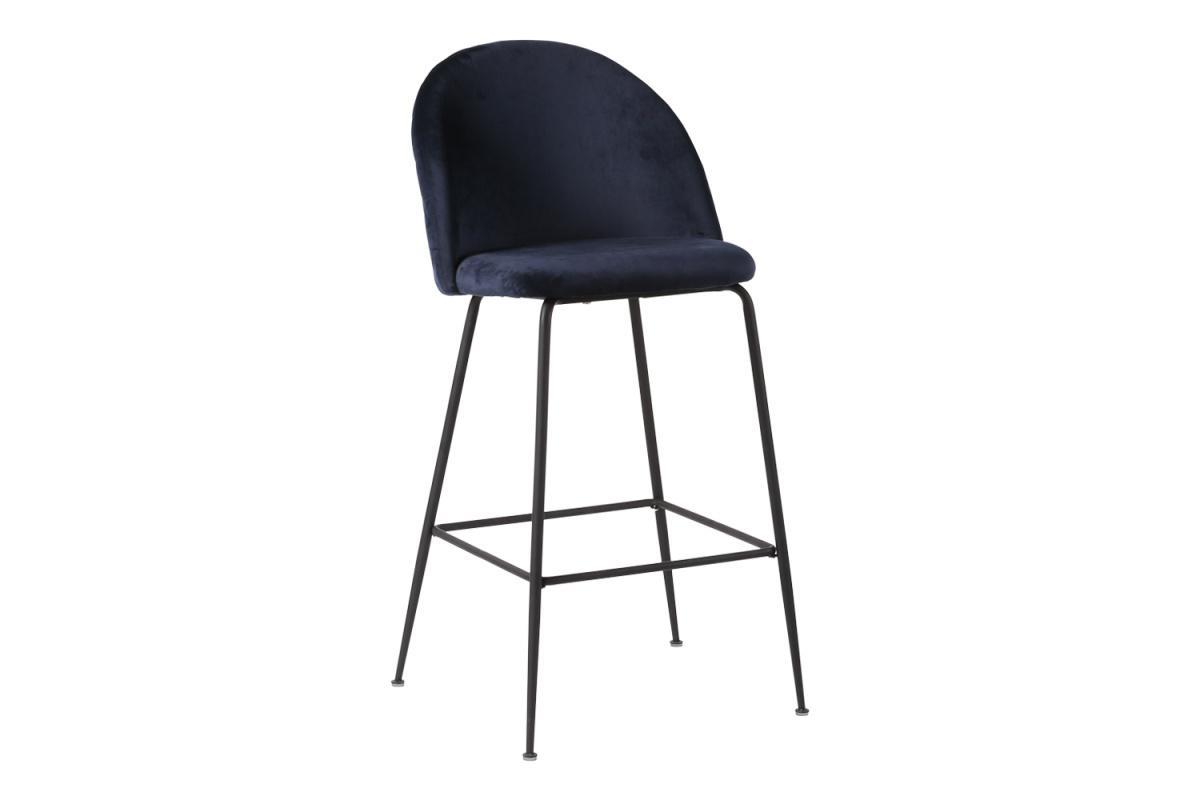 Dizajnová barová stolička Kristopher, modrá / čierna