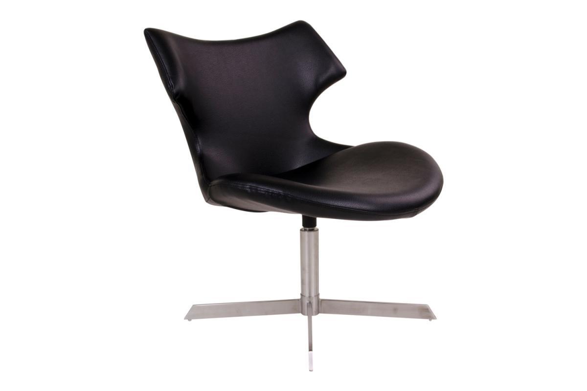 Dizajnová stolička Khloe, čierna koženka