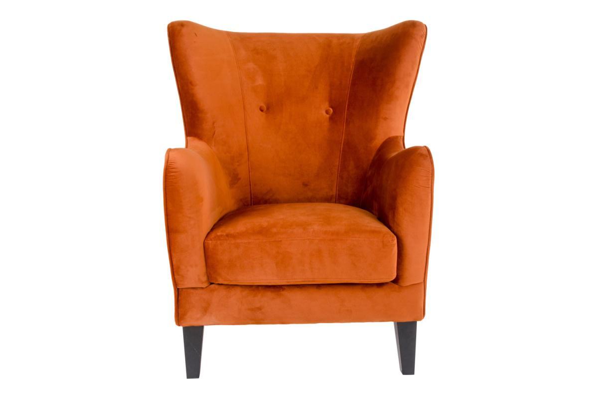 Dizajnové kreslo Julian, oranžový zamat