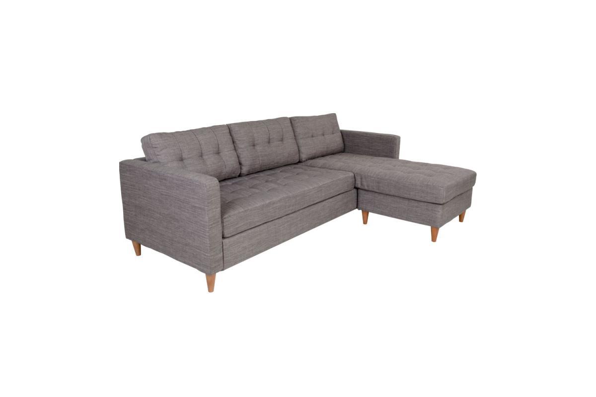 Dizajnová sedačka Brianna, sivá