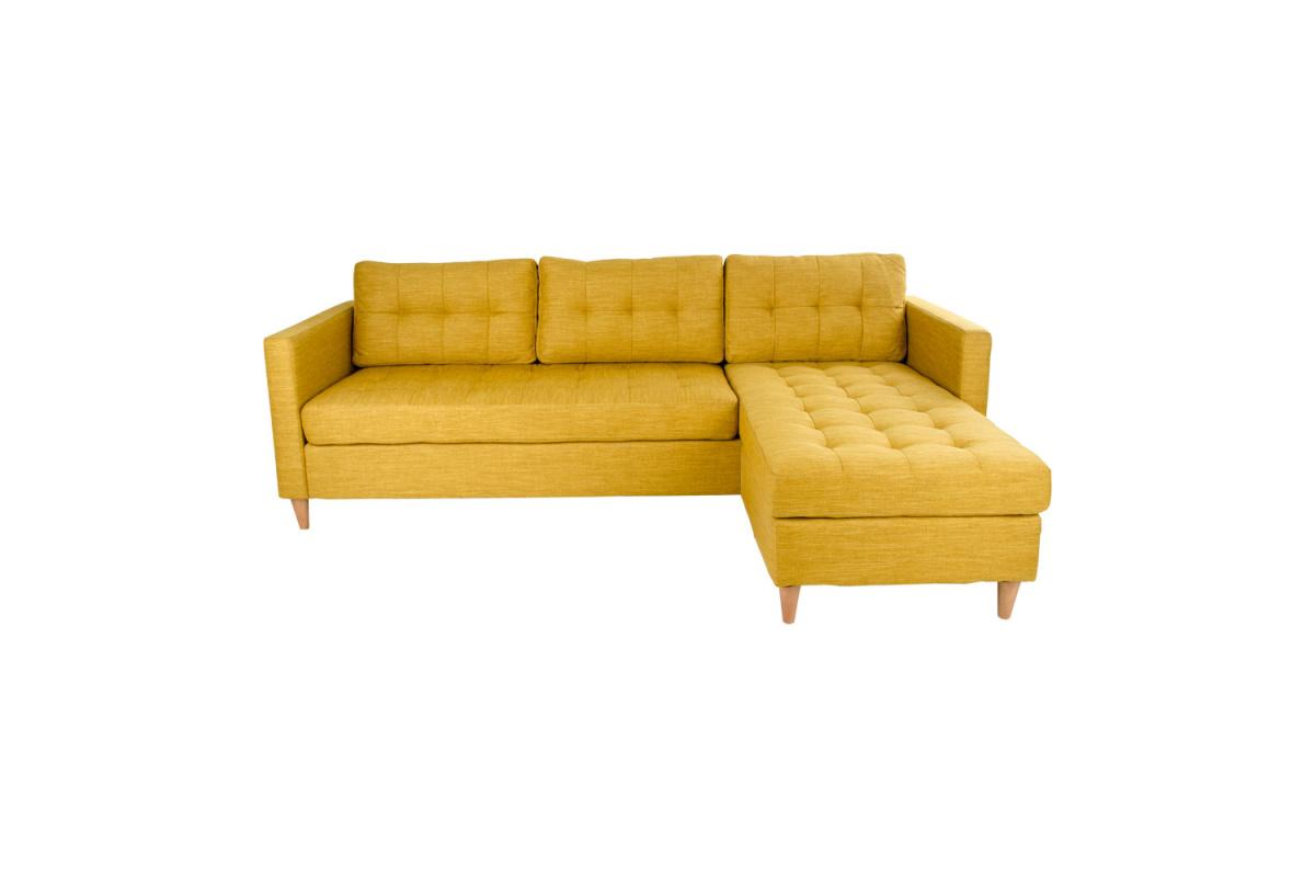 Dizajnová sedačka Brianna, kari žltá