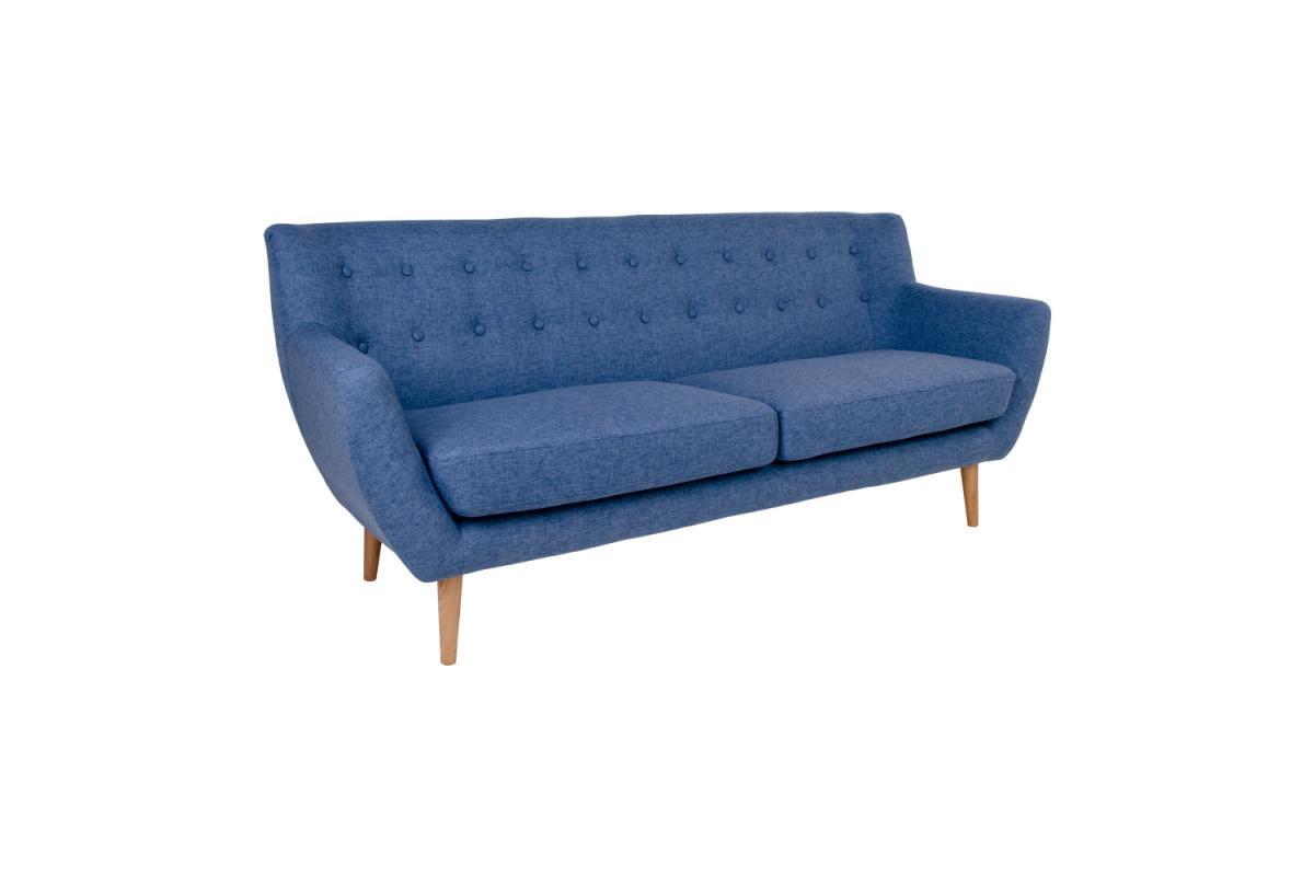 Dizajnová sedačka Aaliyah, modrá