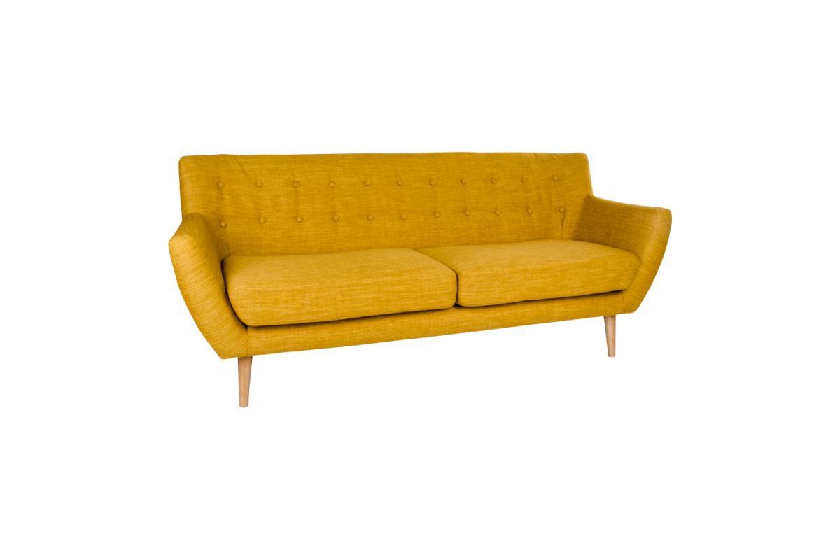 Dizajnová sedačka Aaliyah, kari žltá