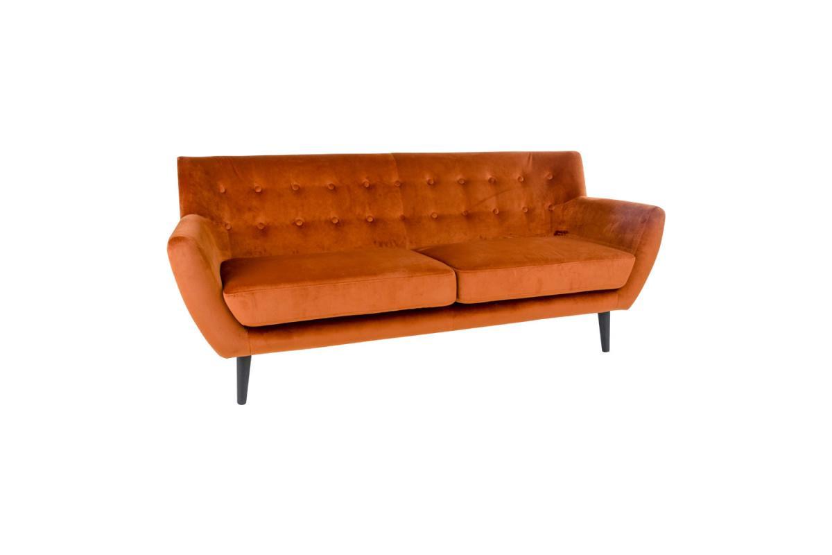 Dizajnová sedačka Aaliyah, oranžový zamat
