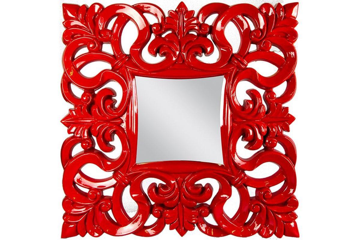 Zrkadlo Linda červené Antik