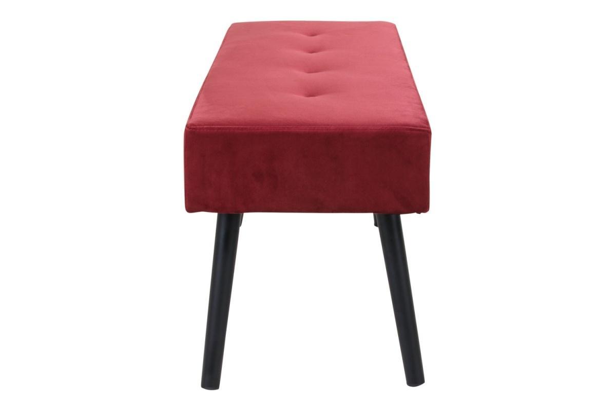 Dizajnová lavica Elaina, červený zamat