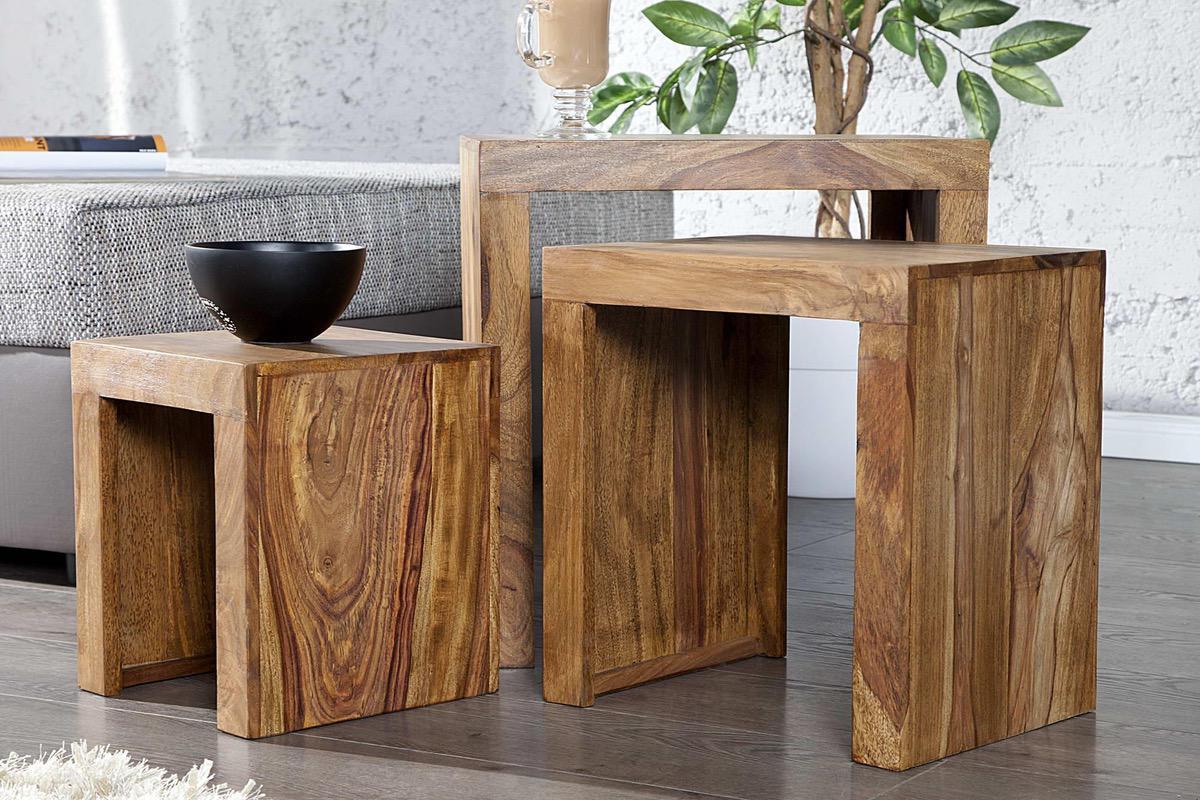 Set 3 stolíkov Santana