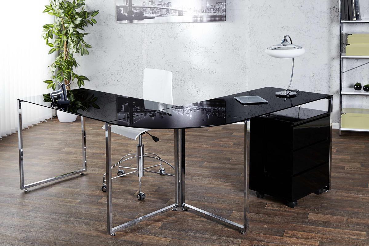LuxD Kancelársky stôl Atelier čierny 60 cm x 75 cm