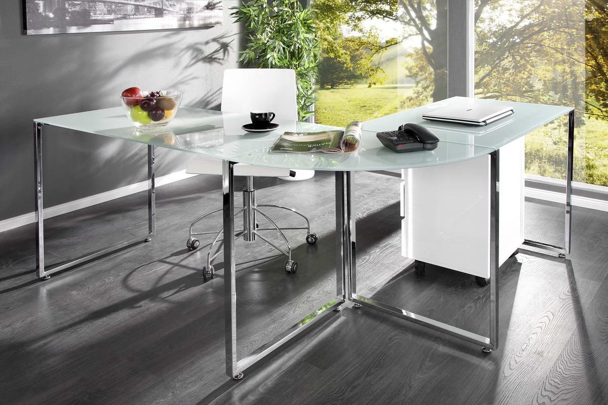 LuxD Kancelársky stôl Atelier biely 60 cm x 75 cm