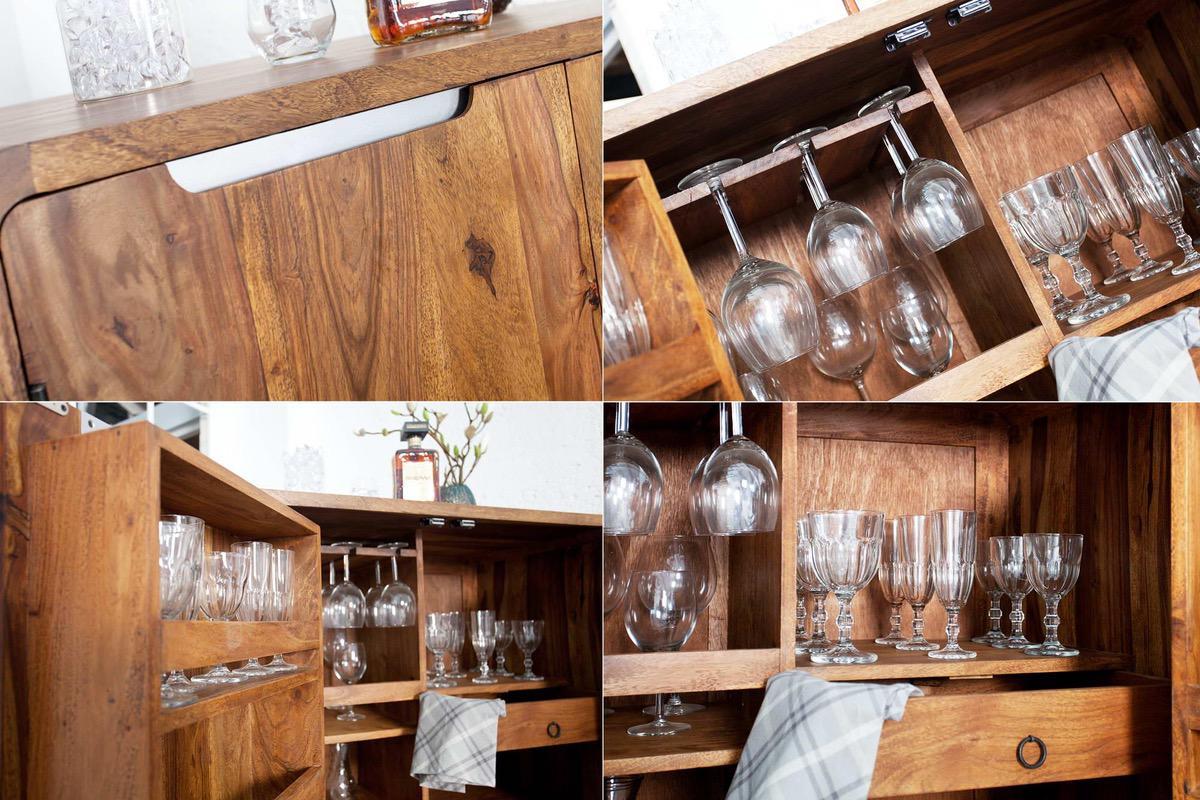 Luxusná barová skrinka z masívu Island