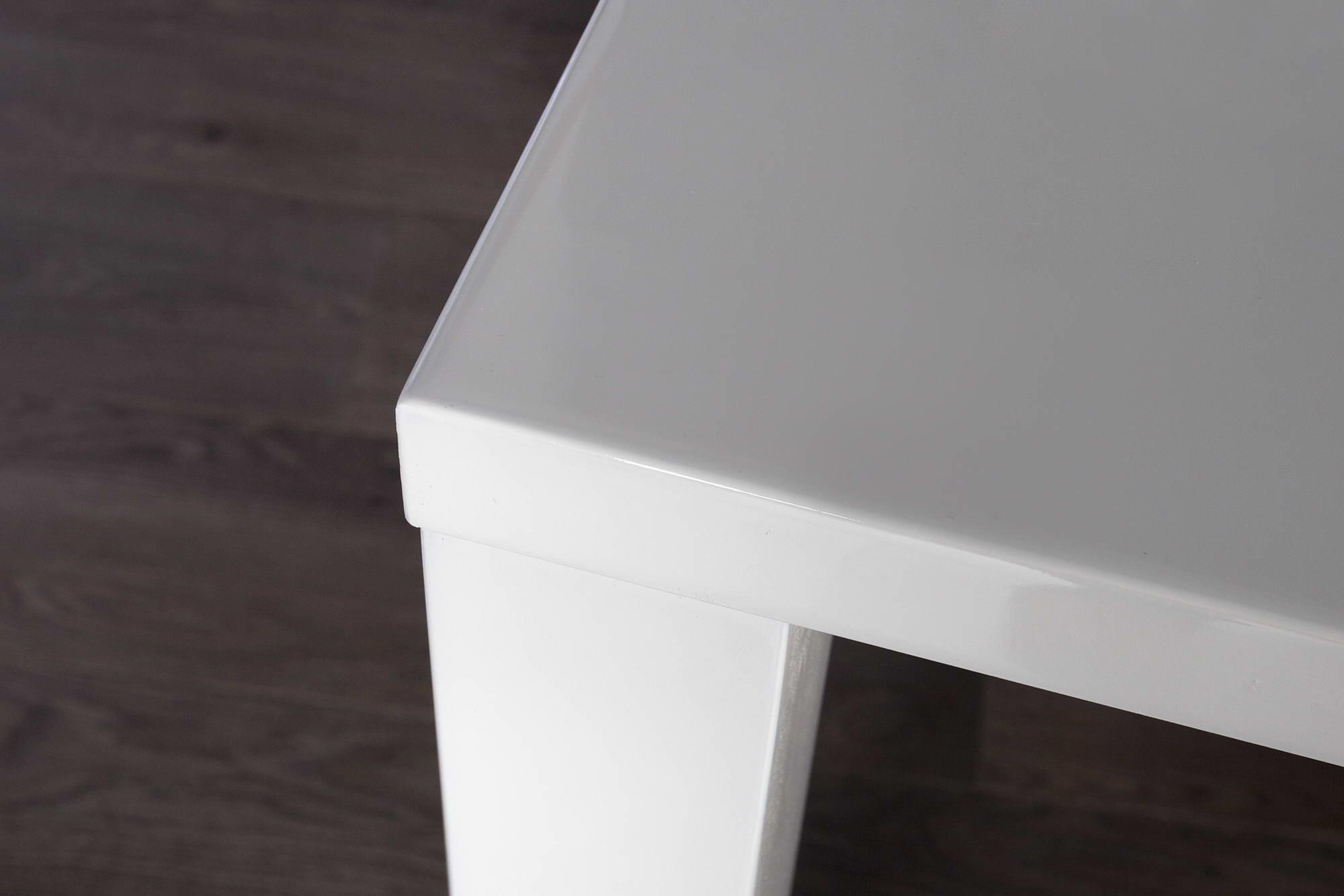 Jedálenský stôl biely vysoký lesk Radiant 80cm