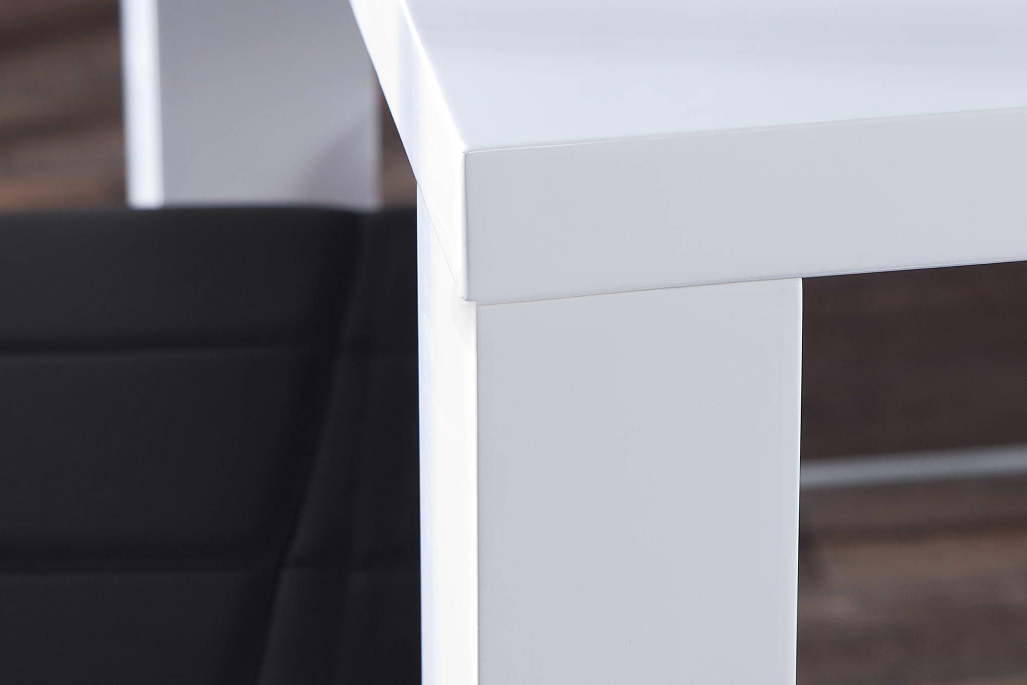 Jedálenský stôl biely vysoký lesk Radiant 140cm