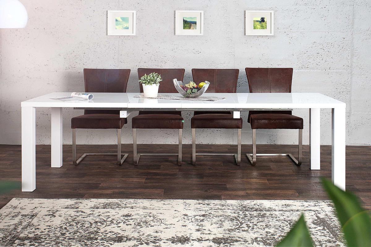 jed lensk stoly jed lensk st l biely rozkladac radiant 160 240cm. Black Bedroom Furniture Sets. Home Design Ideas
