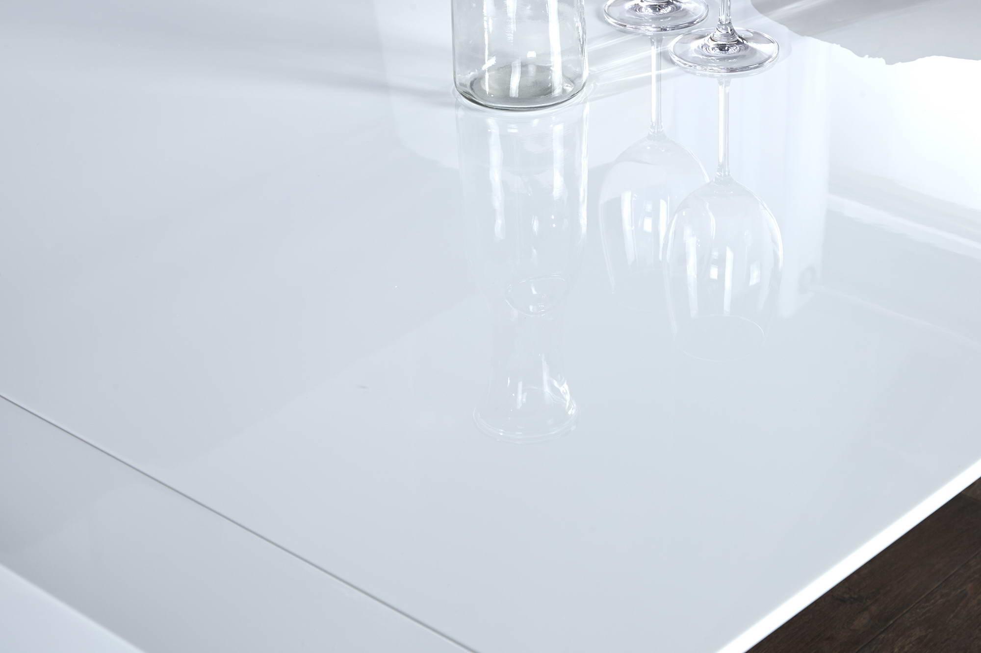 Jedálenský stôl biely rozkladací Limousine 180-260cm