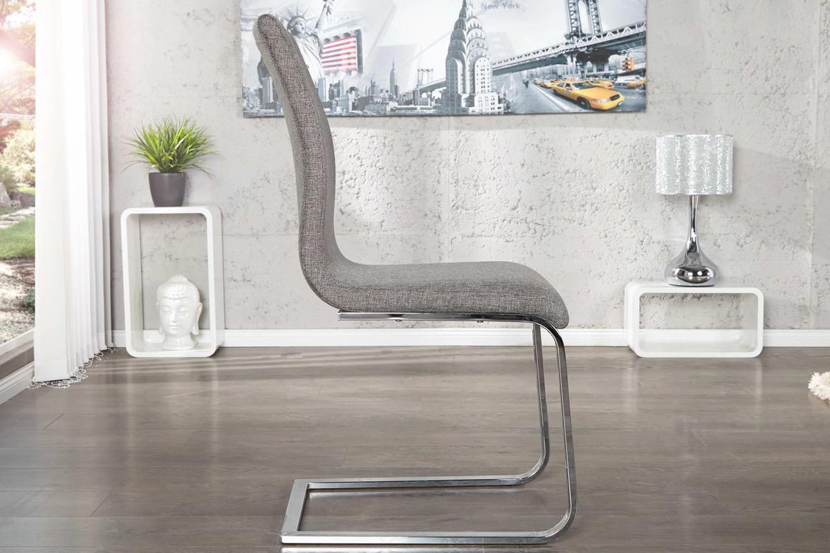 Stolička Slim II sivá