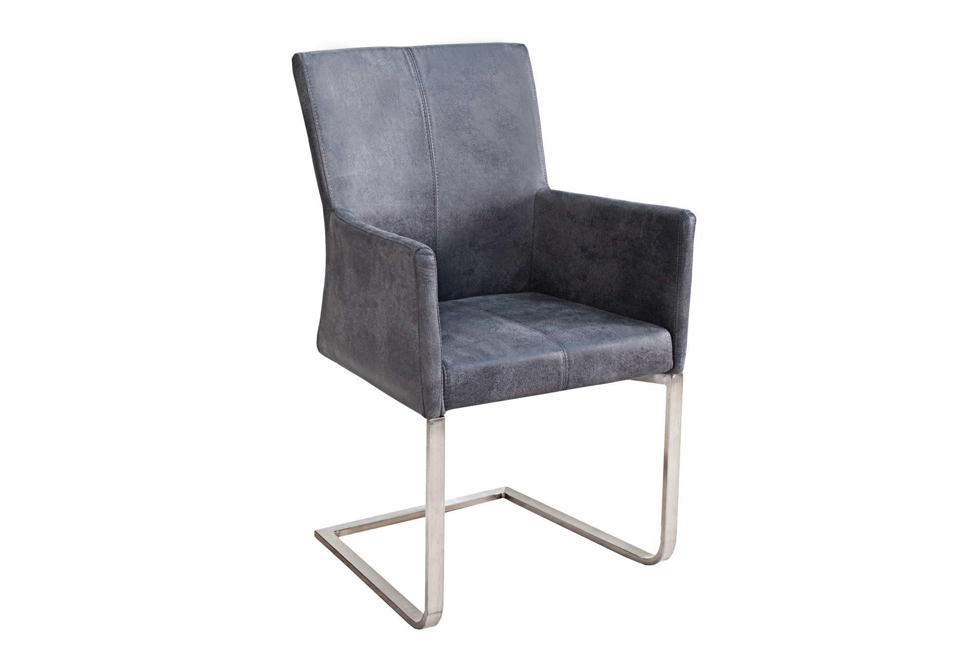 Stolička Bull Vintage sivá