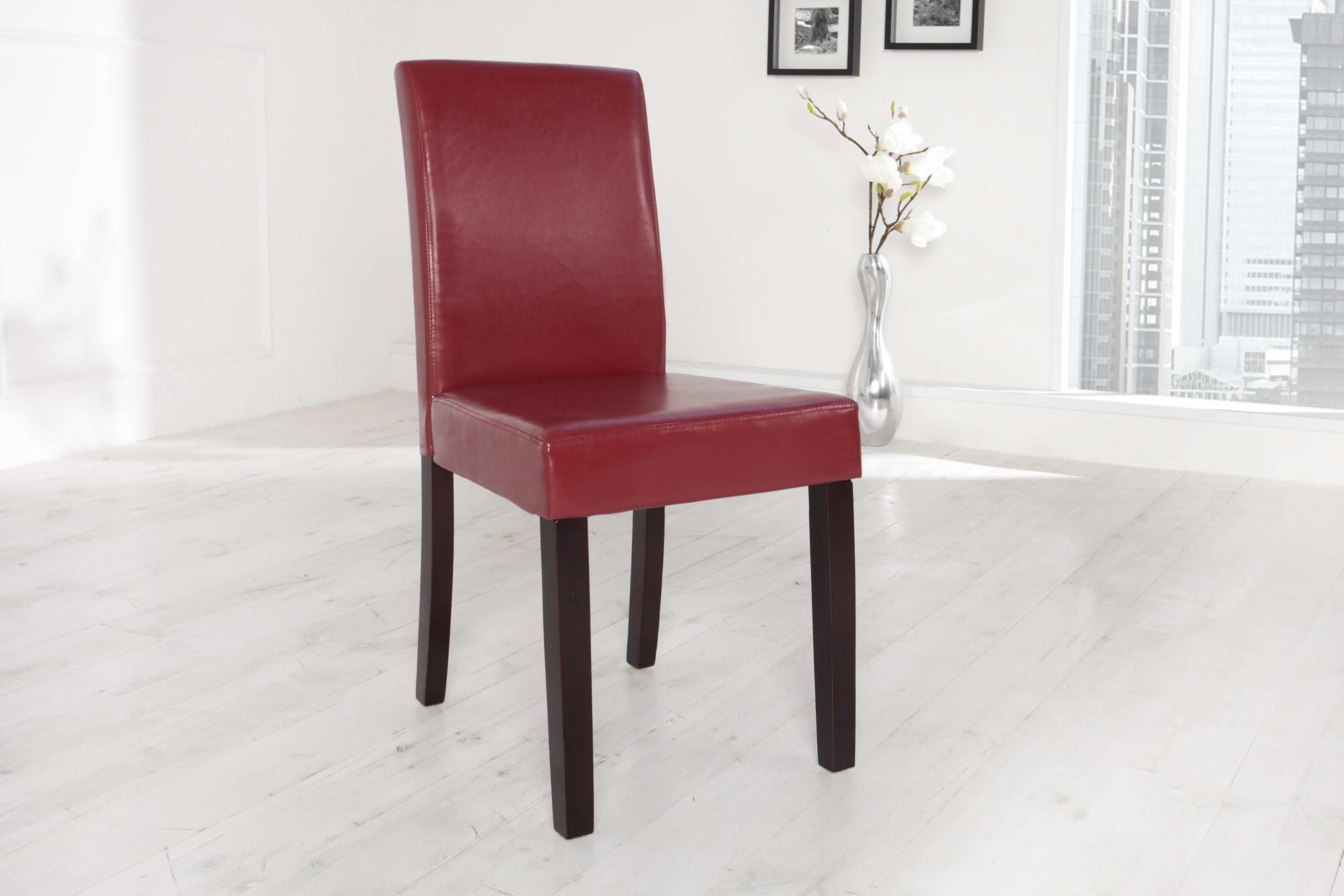 Stolička Dining červeno-bordová