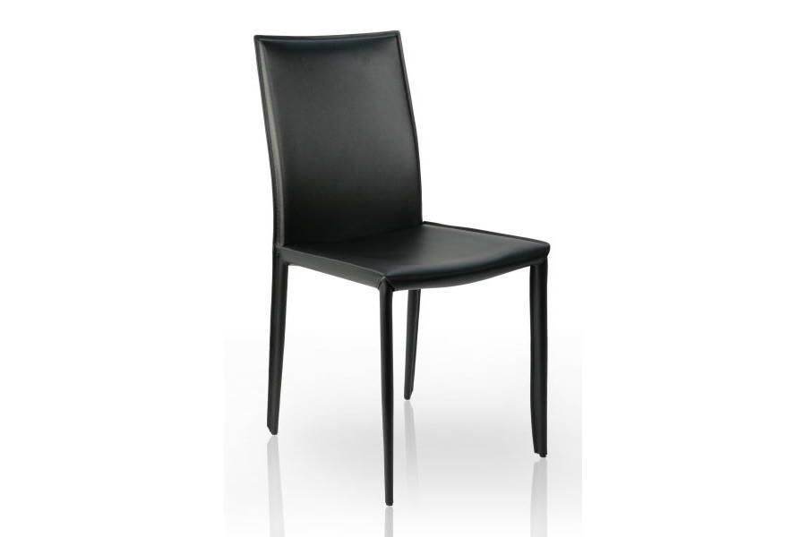 Stolička Neapol čierna koža