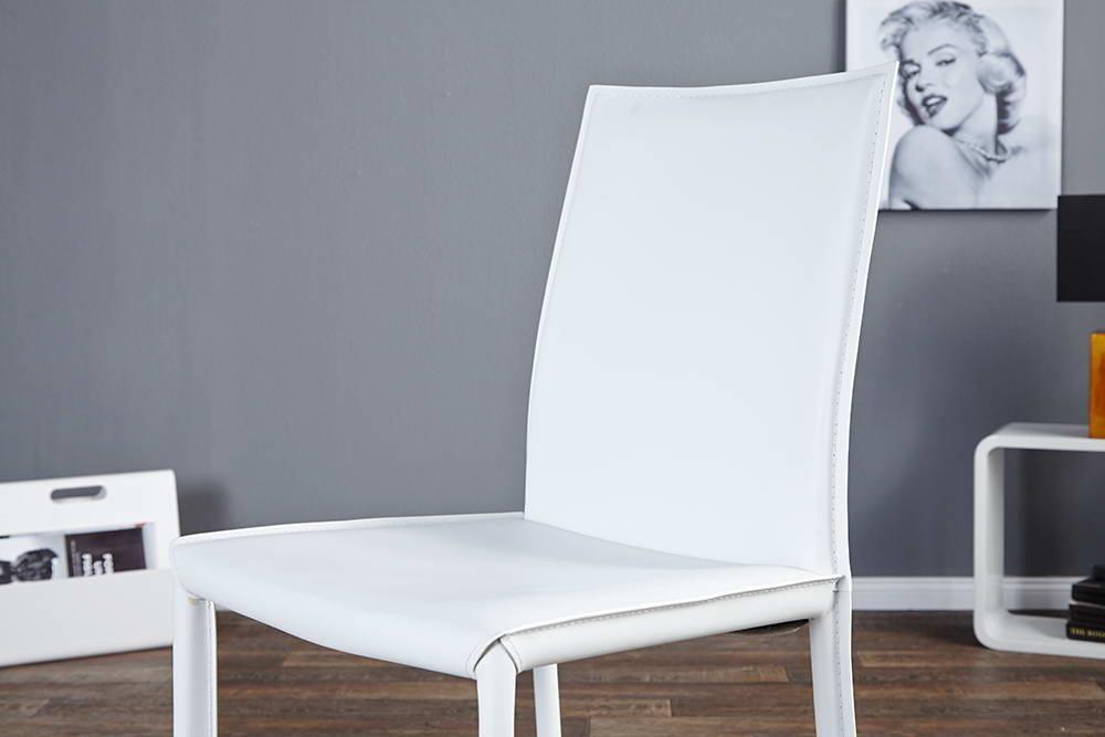 Stolička Neapol biela koža