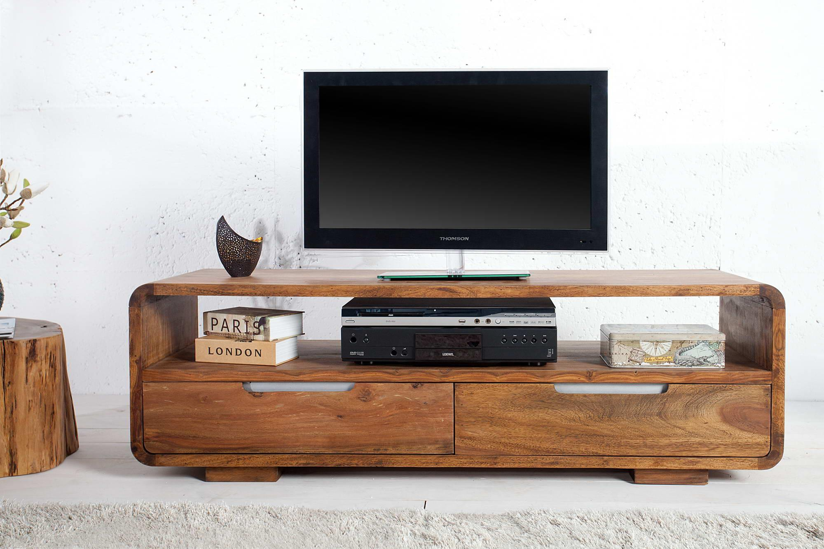 LuxD Luxusný TV stolík z masívu Island