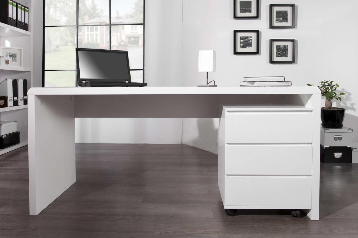 4b4983d30550 Luxusný kancelársky stôl Barter biely vysoký lesk
