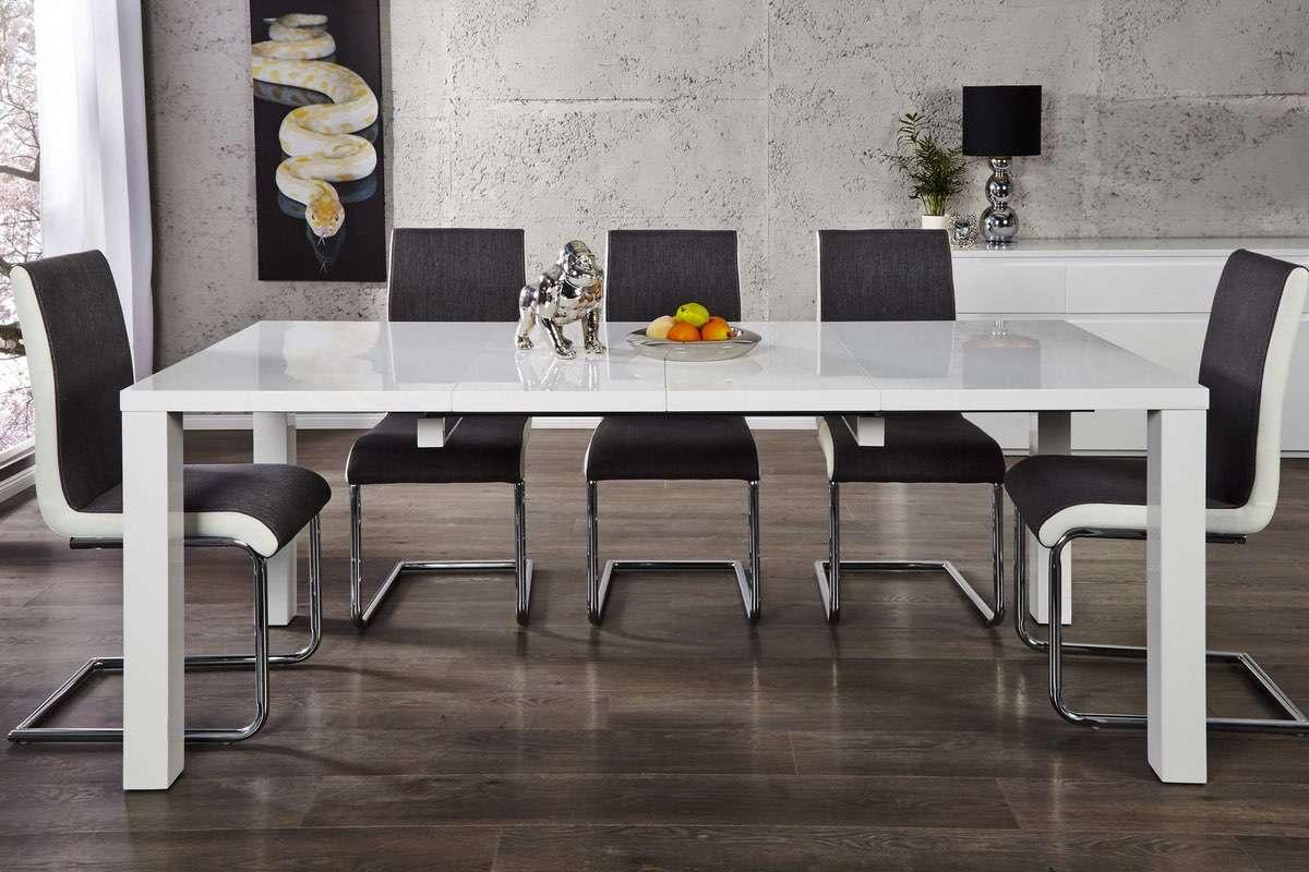 Jedálenský stôl biely rozkladací Radiant 120-200cm - II. Trieda