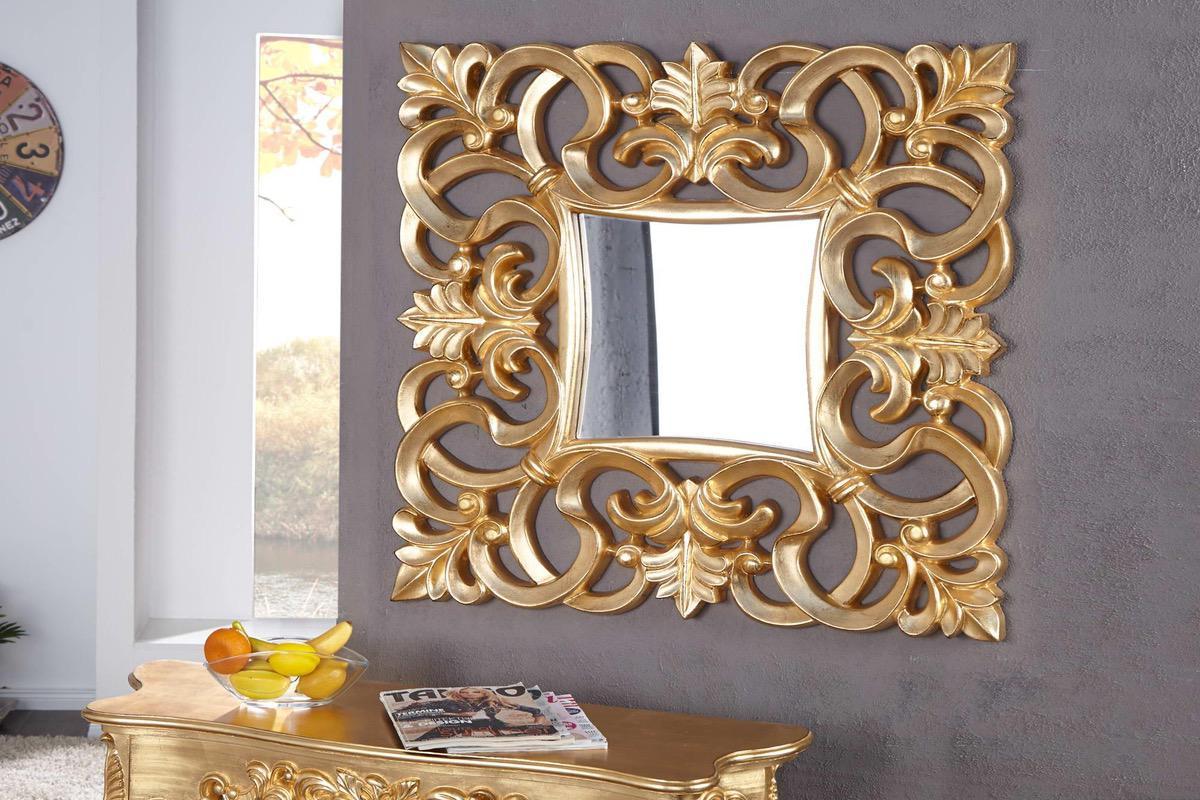 LuxD Zrkadlo Veneto zlaté Antik 75 cm x 75 cm 16436