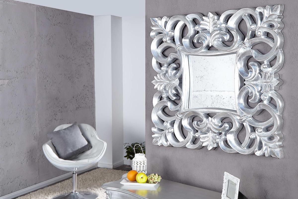 LuxD Zrkadlo Veneto strieborné Antik - RP 75 cm x 75 cm 16438
