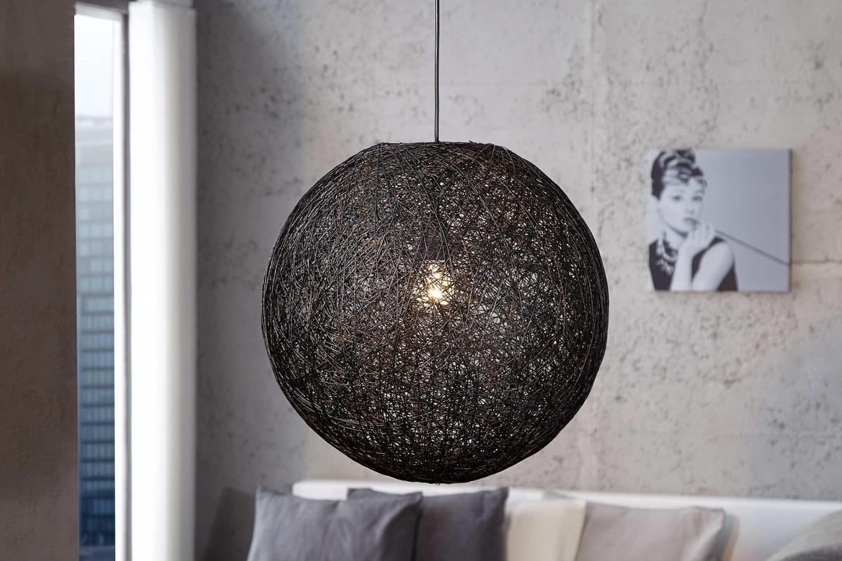Lampa Wrap čierna 45cm