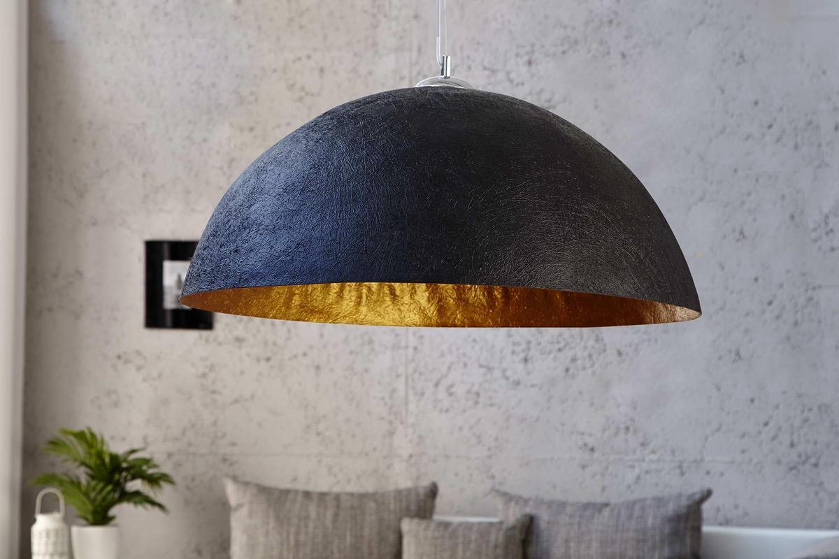 Lampa Glimer 70cm čierno-zlatá