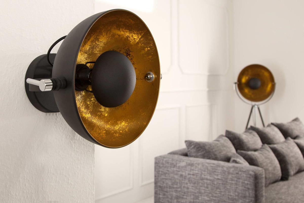 Nástenná lampa STAGE čierno zlatá