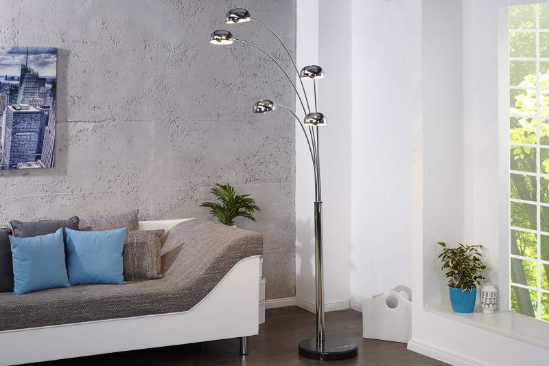 Stojanová lampa Qualle chróm - II. Trieda