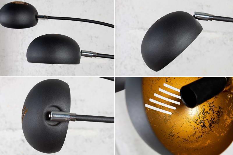 Stojanová lampa Qualle čierno-zlatá