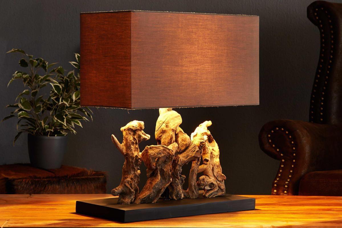Stolná lampa z naplaveného dreva NATURE
