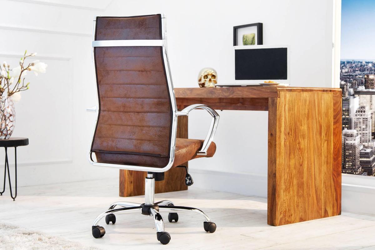 Kancelárska stolička Boss Vintage hnedá-