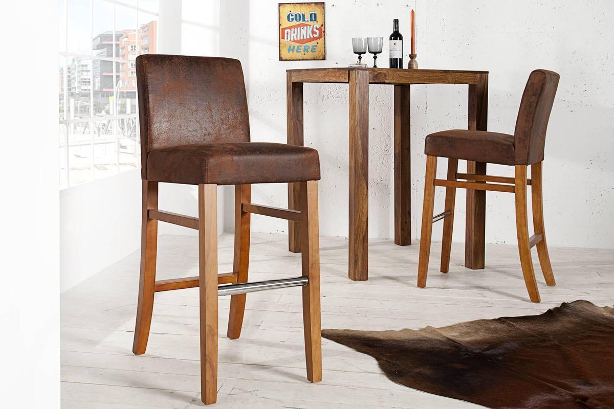 Barová stolička Clemente Vintage Look