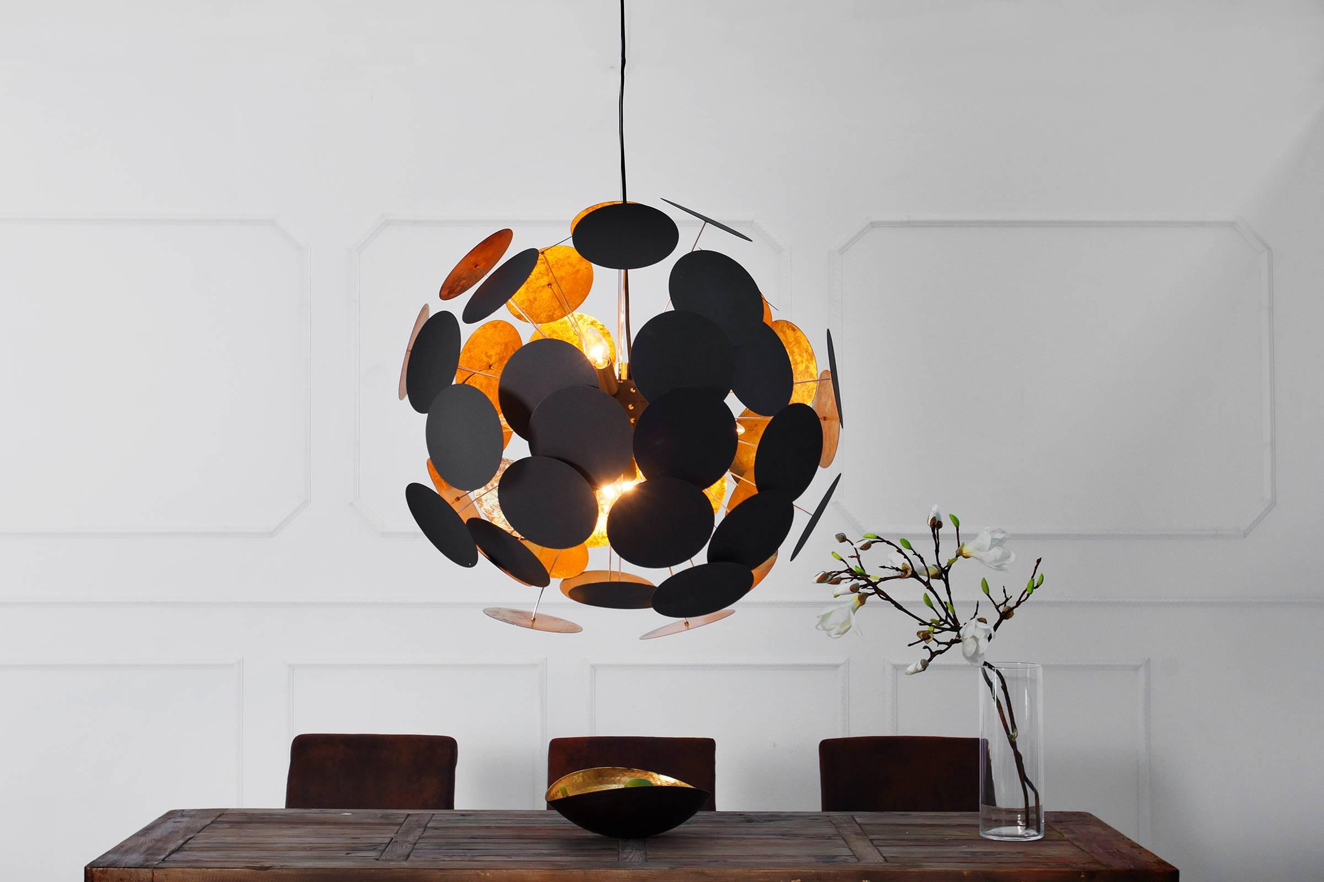 Lampa Sunshine čierna