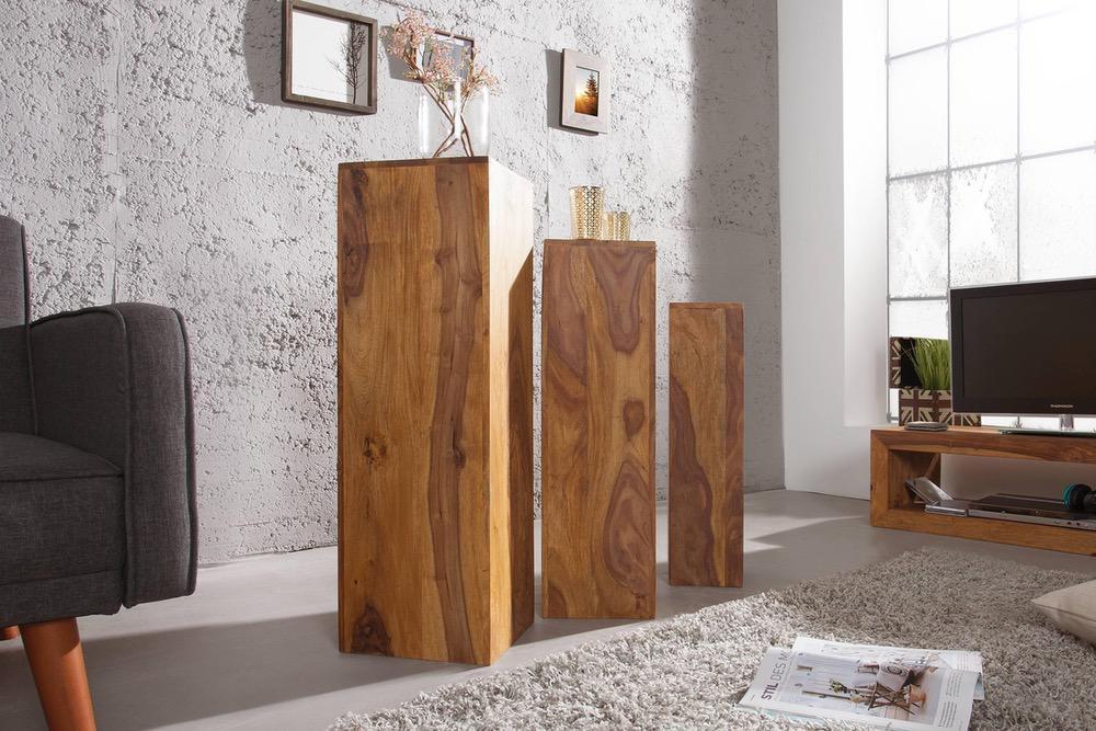 LuxD Set 3 stojanov Timber Honey