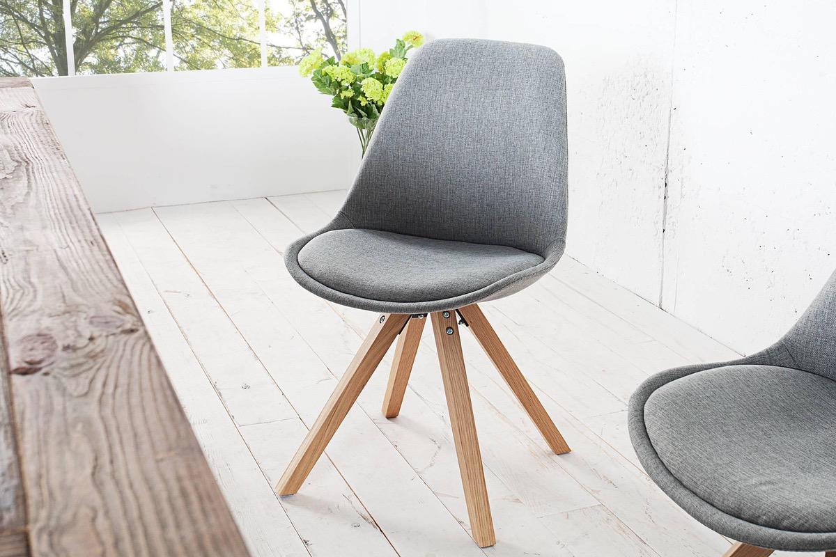 Jedálenské stoličky - moderné  Stolička Sweden NewLook II sivá 69b9539ce2f