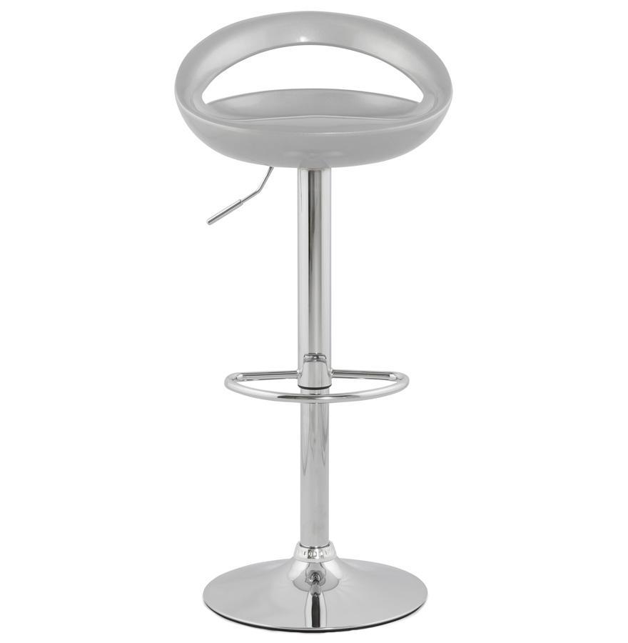 Dizajnová barová stolička Mason strieborná- SKLADOM na SK