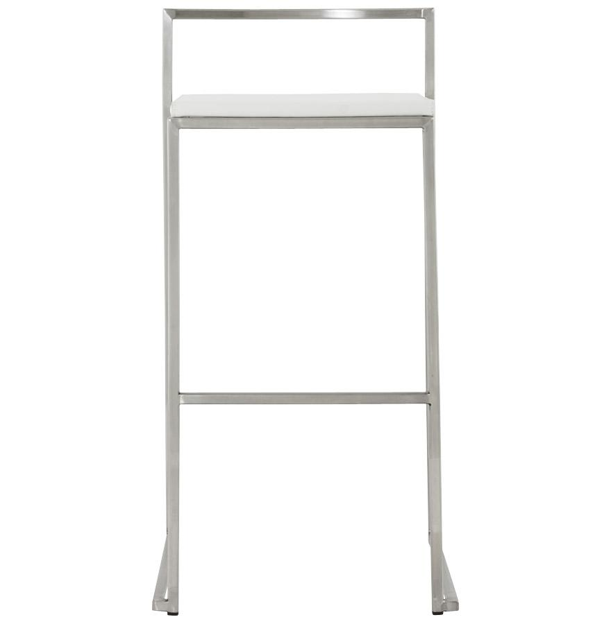 Dizajnová barová stolička Ethan biela