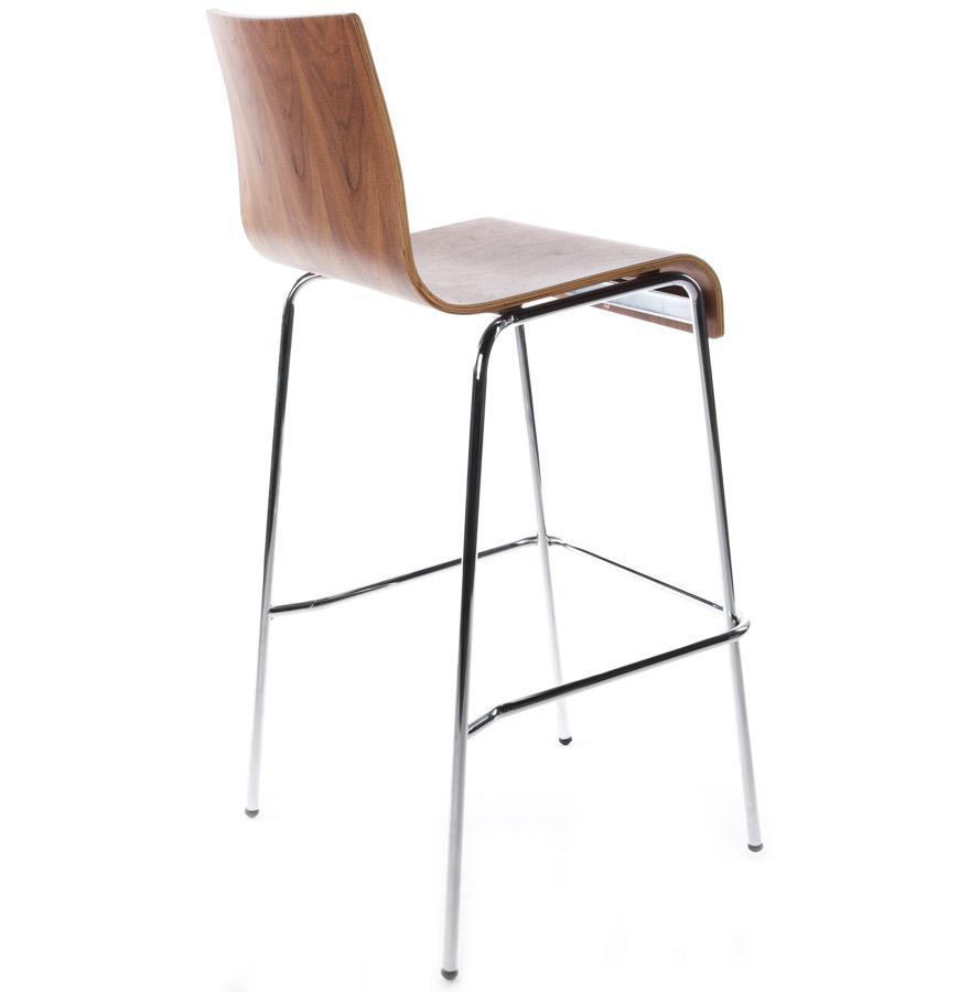 Moderná barová stolička Aiden orech