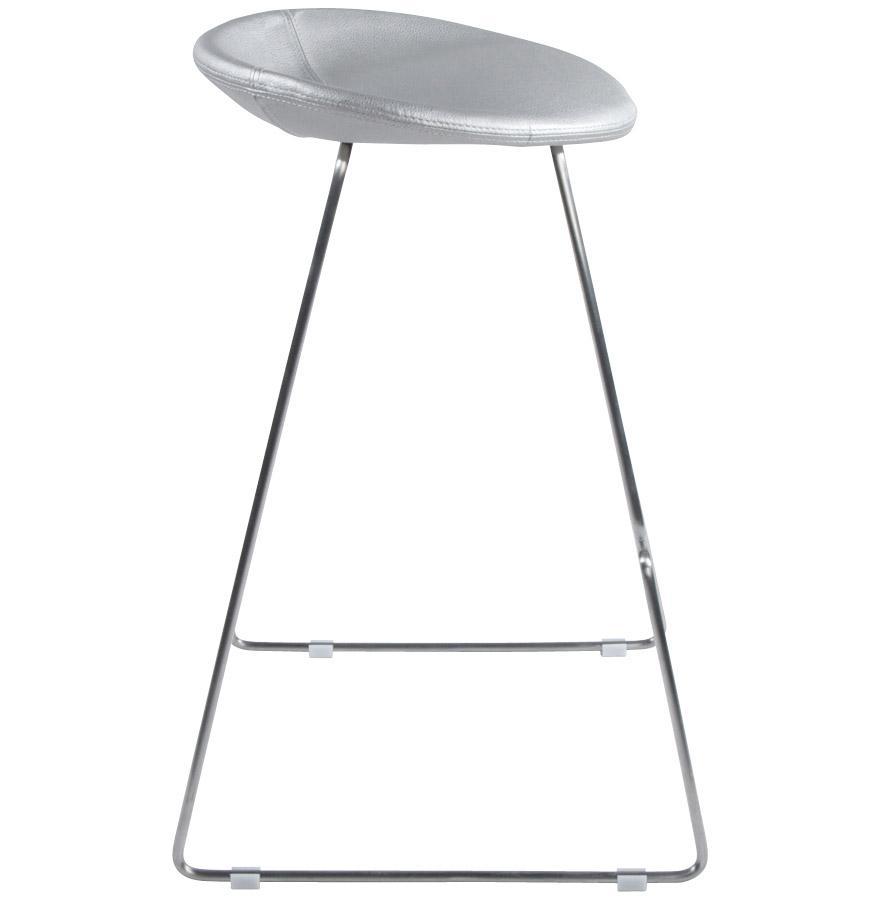 Moderná barová stolička Jack strieborná