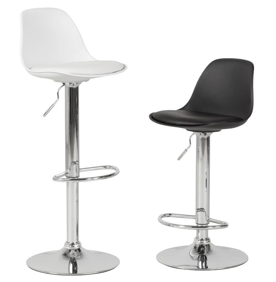 Moderná barová stolička Landon sivá