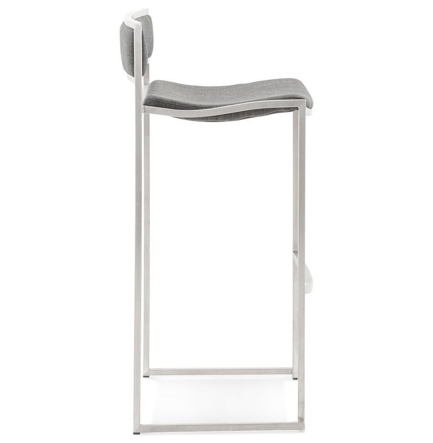 Moderná barová stolička Hunter sivá